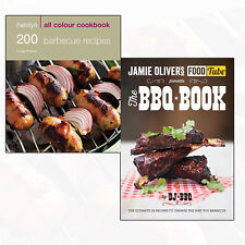 Barbecue Recipes Collection Jamie Olivers Food Tube 2 Books Set BBQ Book NEW