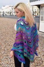 Sparkly Ocean Dragon Handmade Crochet Virus Shawl Scarf Knit Crochet Medium