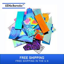 iDichroic 1 lb Dichroic Combo Glass Scrap Pack - 96 COE