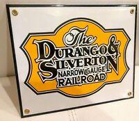 Durango and Silverton Railroad porcelain Sign .. train