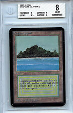 MTG Alpha Tropical Island Dual Land WOTC BGS 8.0 (8) NM/MT Card