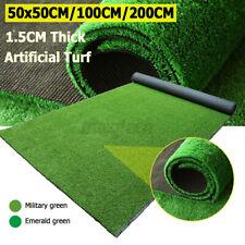 Artificial Turf Grass Mat Fake Synthetic Landscape Golf Lawn Home Garden Yard UK