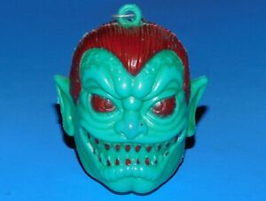 Vintage 1980's Monster Face Original Candy Container Green Vampire Maba Zombies