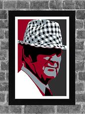 Alabama Crimson Tide Bear Bryant Portrait Sports Print Art 11x17