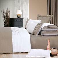 Chalet Chic Paradise 350TC Cotton Latte White QUEEN Size Quilt Doona Cover Set