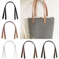 2Pcs PU Leather Tote Bag Strap Replacement for Handbag Detachable Handle Belt*
