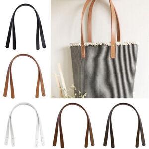 2 Pcs PU Leather Tote Bag Strap Replacement for Handbag Detachable Handle Belt