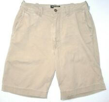Mens 32 Abercrombie & Fitch Zipper Fly Cotton Khaki Casual Shorts