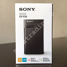 ***NEW*** SONY ICF-P26 Compact Portable AM FM Radio Black