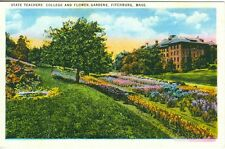 Fitchburg MA The State Teacher's College and Flower Beds
