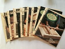 Lot of Woodsmith Notes, Projects, Sourcebooks # 73-80