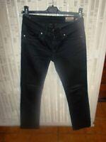 Pantalon jean noir taille basse KAPORAL VERONE w26 36 slim STRASS stretch 18ts50