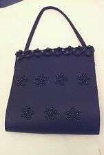 Small Black Embellished Popper Hangbag
