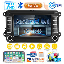 "7"" Autoradio 2DIN Android 8.1 GPS Navi Bluetooth para VW GOLF PASSAT POLO TIGUAN"