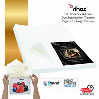 100 A4 Rihac Dye Sublimation Heat Transfer Paper for Epson Brother Inkjet