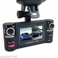 "2.7"" TFT LCD HD 1080P Dual 120° Wide-Angle Camera Rotated Lens Car DVR Digital"