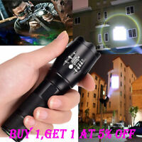 Tactical T6 LED 60000LM Zoomable 18650 Flashlight Torch 5 Modes Light Lamp HOT