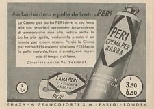 Z1053 Lama e Crema per Barba PERI - Pubblicità d'epoca - 1934 Old advertising