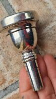 MADE IN ENGLAND 13 BOCCHINO BASSO TUBA/MOUTHPIECE BASS TUBA/TUBE SILVER PLATED