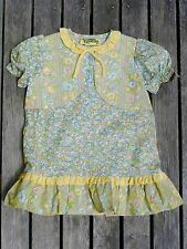 Vintage retro true 60s 1 - 2 yo unused toddler girls dress floral NOS as new