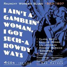 I AIN'T A GAMBLIN' WOMAN RAUNCHY WOMEN BLUES 1923-1937 4 CD NEUF