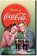 USA Coca Cola Kühlschrank Magnet Vintage Style 1950's Paar Magnetschild