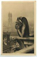 YVON RPPC Paris en Flanant Chimere at Notre Dame de Paris c1926 Series 7 No 123