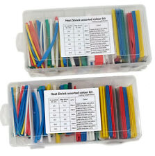 2x 196pcs Heat Shrink Tubing Assorted 7 Colors Kit And 6 Sizes In Case 392pcs