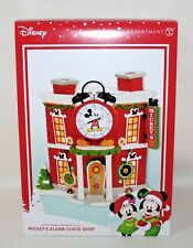 "NEW Dept 56 & Disney Mickey's Merry Village Lighted ""MICKEY""S ALARM CLOCK SHOP"""