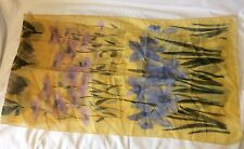 Yellow Floral Scarf Chiffon - Excellent Color and Condition