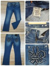 MISS ME JEANS | Women Size 27 | Embroidered Jewel Embellished Signature Boot Cut
