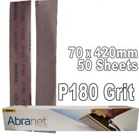 Mirka Abranet P180 Hook-It Loop Grip Strips 70x420mm - 50 Sanding Sheets