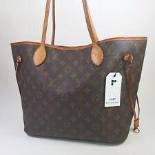 Auth Louis Vuitton Neverfull MM Monogram M40156 Genuine Shoulder Tote Bag LC354