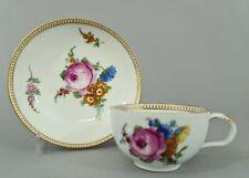 (M1559) Barocke Meissen Teetasse mit Unterschale, Marcolini Periode 1774-1814