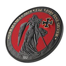 Germania 2019 5 Mark GERMANIA Iron Cross 1 Oz Silver Coin 500