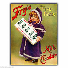 FRY's CHOCOLATE Retro Vintage Advert METAL SIGN WALL PLAQUE art picture print