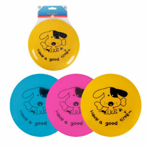 Dog Frisbee Dog Toy Flying Training Disc Family Outdoor Fan Game 3 Colours 20 cm