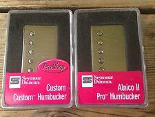 Seymour Duncan SH-11 Custom Custom And Alnico II Pro APH-1N Humbucker Set Nickel