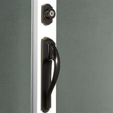 Storm Door Pull Handle & Lock Set in Black 1 Inch Thick Door-90203-061