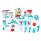 Melissa  Doug Get Well Doctor's Kit 25-piece Play Set Reusable activity cards
