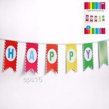 Rainbow Happy Birthday Party Banner..Bunting..Garland...Circus