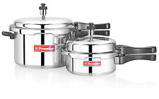 Premier Aluminium Pressure Cooker Combo Pack 5 Ltr + 2 Ltr  Commercial Cooker