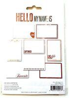 Teresa Collins Hello My Name Is Photo Overlays - Scrapbook Craft Embellishments