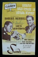 Las Vegas program signed by LOUIS ARMSTRONG & ROBERT MERRILL, with COA