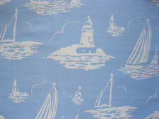 Cath Kidston 50cm / 137cm wide Mono Boats Blue lightweight cotton fabric new