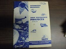Commerical Trades Automotive Mechanics SHop Experience Projects 23 THRU 26