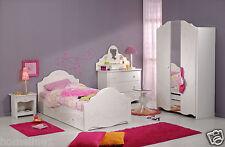 Mädchen Kinderbett Hochbett Kinderzimmer komplett weiß Schrank Bett Tisch Alice1