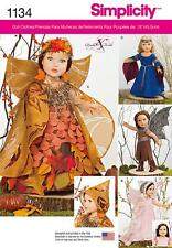 SIMPLICITY SEWING PATTERN MYSTICAL 18 INCH DOLLS CLOTHES DRESS BODICE CROWN 1134
