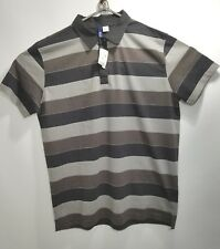 H&M Gray Striped Polo New with Tags Size XL Mens