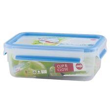 Emsa Set of 6 Clip & Close 3D PERF Clean Food Storage Container Jar